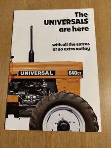 UNIVERSAL TRACTORS SUPERB COLOUR FARMING TRACTOR RANGE BROCHURE PRE USED IN VGC