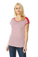 Roman Originals Women Short Sleeve Stripe T Shirt Top