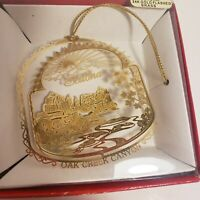 Nation's Treasures Sedona Oak Creek Canyon Ornament 24K Gold Flashed Brass