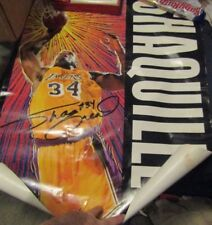 SHAQUILLE O'NEAL #34 LA LAKERS ORIGINAL HAND SIGNED AUTOGRAPH POSTER