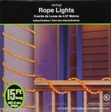 Halloween 15 ft Orange Rope Lights Indoor/Outdoor NIB