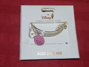 1 Disney Parks Alex and Ani We're all Mad Here Teacup Bangle Bracelet Silver NWT