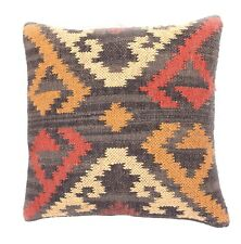 Kelim Handloom Decorative Chair Bed Pillow Throw Jute Pattern Sofa Cushion 18""