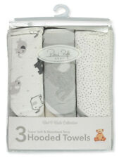 Rene Rofe Unisex Baby 3-Pack Super Soft Terry Hooded Towels