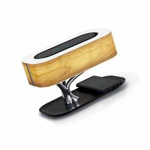 Masdio by Ampulla Bedside Lamp with Bluetooth Speaker and Wireless Charger, T...