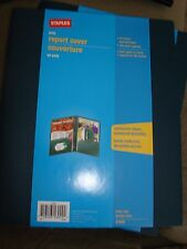 STAPLES POLY REPORT COVER FOR 3 HOLD PUNCH 21645 LOT OF 4