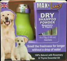 MAX & Lucy Shampoo a secco-Rosemary & Timo LAMPADINA 4 x 75 G BUSTINE darmi una rinfrescata Cani