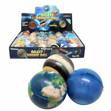 1 x GALAXY PLANET BOUNCE BALL TOY ELASTIC TOYS BOUNCING KIDS PARTY ASSORTED 6cm