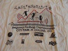Vintage HACKY SACK t-shirt: INTER MOUNTAIN 1987 regional Footbag Championship M