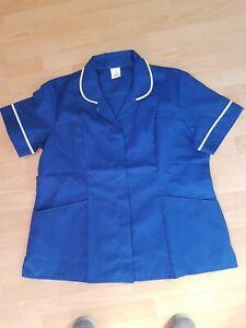 """Women's Alexandra Workwear Tunic. Blue With White Trim Size 49"""""""