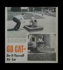 Hovercraft Mini Air Car Cart How-To build Plans Simple design