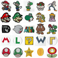 Super Mario Brothers Patches Embroidered Iron on Badge Mario Bros Aufnäher Toppa