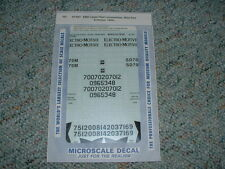 Microscale HO decals 87-927 EMD Lease Fleet Locos Wine Red 1994+ TTT