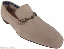 CESARE PACIOTTI US 12 ELEGANT SUPPLE SUEDE LOAFERS ITALIAN LEATHER MENS SHOES
