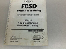 1998 1/2 FORD TRUCK 7.3 7.3L Diesel Engine Technical Training Manual OEM