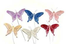 Artificial Feather Butterflies Fake Craft Floral Butterfly Cake Toppers BF777X24