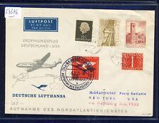53876) LH FF Hamburg - New York 8.6.55, SoU ab Niederlande, MiF mit BRD