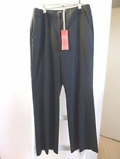 BNWT Pure Collection smart ladies unlined wool bootcut trouser black size 10L