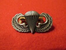 Paratrooper Jump wing US Army Airborne clutch back Crest Craft STERLING  marked