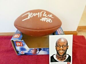 """""""FOOTBALL"""" NEW WILSON FOOTBALL AUTOGRAPHED BY NFL JERRY RICE #80, INCLUDES PHOTO"""
