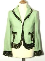 Womens Vintage Coronets and Queens Wool Jacket  Green  Size  M - L  Chest  36in