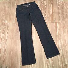 Vintage Rockies Juniors 5R Mid-Rise Jeans Straight Leg Dark Wash Stretch Pleat