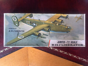 Airfix B-24J Liberator Complete Kit Red Stripe Box Good Condition