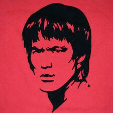 vtg 90s Bruce Lee T-Shirt Size S/M Raised Black Velvetine Bruce Lee
