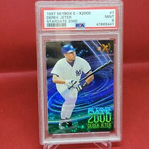 Rare 1997 Skybox E-X2000 Star Date 2000 Derek Jeter #7 PSA 9 MINT NY Yankees