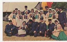 Llangollen, Colourful Group Contestants International Eisteddfod Postcard B329