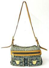 Authentic LOUIS VUITTON Monogram Denim Baggy PM Blue Shoulder Bag M95049 France