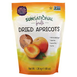 Sunsational Fruits Dried Apricots Natural Juicy Tender Pack 1.36kg