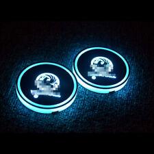 2x Car Van vauxhall LED Cup Holder Mat Lights USB Interior Color Changing Decor