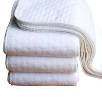 10 Pcs Baby Washable Diaper Washable Cotton Reusable Soft Cloth Inserts Diaper