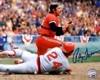 Inidans Catcher RAY FOSSE Signed 8x10 Photo #1 AUTO - 2 x Gold Glover
