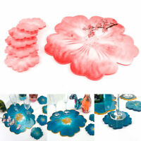 Silicone Resin Coaster Epoxy DIY Flower Tea Tray Casting Craft Tools Sets Mould