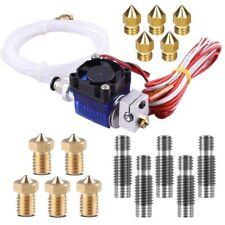1X(V6 J-Head Hotend Full Kit With 10Pcs Extruder Print Head + 5Pcs Stainles A7T6