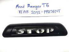 """MATTE BLACK """"STOP"""" THIRD BRAKE LIGHT LAMP COVER NEW FORD RANGER T6 2012-2014 V.3"""