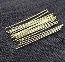 20 x 25mm Solid Sterling Silver Flat End 0.6mm thick Headpins Jewellery Making