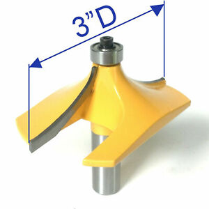 """1 pc 1/2"""" SH 3"""" Cutting Diameter Handrail, Table Edge B Router Bit S"""