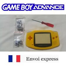 Coque GAME BOY ADVANCE Jaune Yellow NEUF NEW + tournevis - étui shell case GBA
