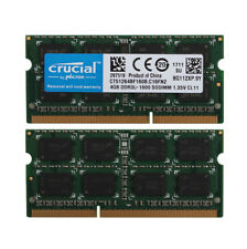Crucial 2x 4GB PC3L 12800 2RX8 DDR3L 1600MHz Laptop Memory RAM SO-DIMM Notebook
