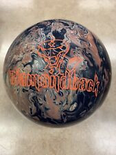 15lb NIB Brunswick DIAMONDBACK Bowling Ball Undrilled BLACK/YELLOW