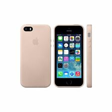 Official Apple Premium Hard Leather Iphone Case / Cover for 5 5S SE - Beige