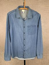ADIDAS Neo Herren Gr. L Jeanshemd blau Hemd Shirt Jeans Denim Sport 4A6