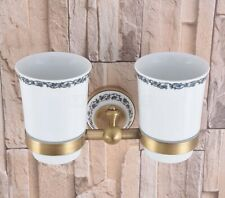 Antique Brass Tumbler Holder Cup & Tumbler Holders Bathroom Accessories Zba782