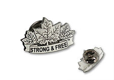 Canada Pewter Lapel Pin Canada Strong and Free