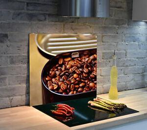 Glas Herdabdeckplatte für Küche Herdabdeckung Kaffee, Kaffeebohne, Kaffeedose
