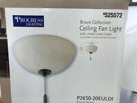 """Progress Lighting Bravo 11"""" Ceiling Fan Light Kit- #525572-Antique Bronze New"""