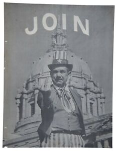 """1967 Join the Army American Newsrepeat Anti War Middle Finger Satire Poster  28"""""""